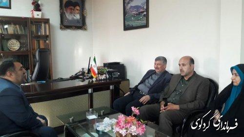 دیدار معاون هماهنگی امور عمرانی استاندار و هیات همراه با فرماندار کردکوی