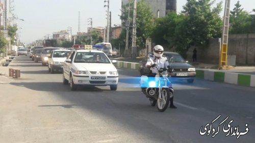 مانور یگان خودرویی به مناسبت سوم خرداد با حضور معاون استاندار و فرماندار کردکوی