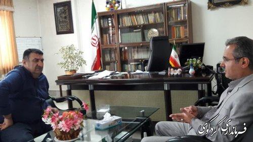 مصدقی معاون مدیرکل راهداری و حمل و نقل استان با قدمنان فرماندار کردکوی دیدار و گفتگو کرد