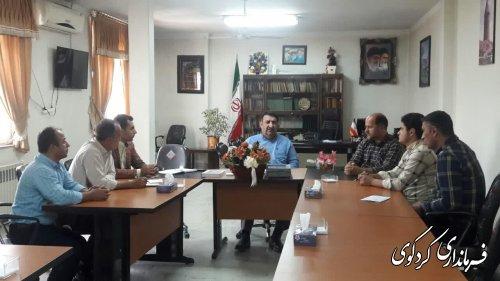 دیدار اعضای شورای اسلامی و دهیار روستای چهارده با فرماندارکردکوی