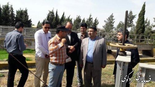 قدمنان فرماندار کردکوی باتفاق روسای امور آب و آب و فاضلاب شهری از تصفیه خانه فاضلاب شهرکردکوی بازدید کردند