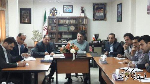 ننشست مشورتی بررسی راهکارهای قانونی برای تعیین تکلیف حدود املاک موقوفه شهرستان برگزارشد