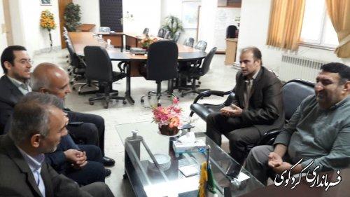 دیدار مدیران کل امور اقتصادی استانداری و غله استان با فرماندار کردکوی