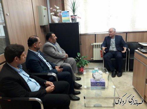 بازدید سرزده ابراهیم قدمنان فرماندار کردکوی از اداره امور مالیاتی شهرستان