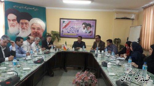 اعضای حزب اراده ملت استان و شهرستان کردکوی با ابراهیم قدمنان فرماندار دیدارکردند