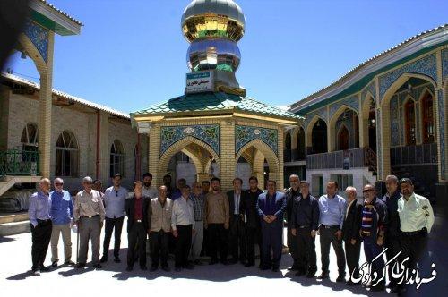 بازدید مشترک فرماندار و بخشدار چند تن از روسای ادارات و شورای بخش مرکزی از مناطق کوهستانی