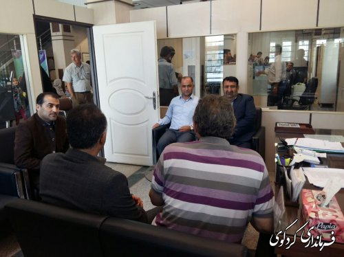 فرماندار کردکوی به صورت سر زده  از بانک کشاورزی شهرکردکوی باز دید کرد