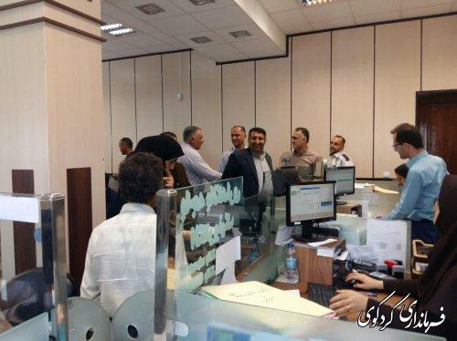بازدید سرزده فرماندار از بانک کشاورزی شهر کردکوی