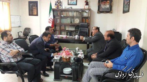 دیدار و گفتگوی مدیرکل بنیاد مسکن روستایی باقدمنان فرماندارکردکوی