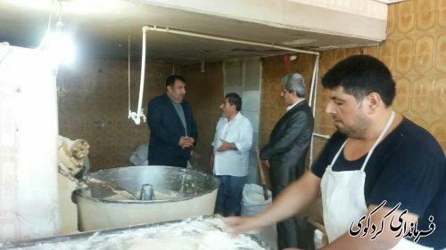 بازدید سرزده ابراهیم قدمنان از چند واحد نانوایی در کردکوی