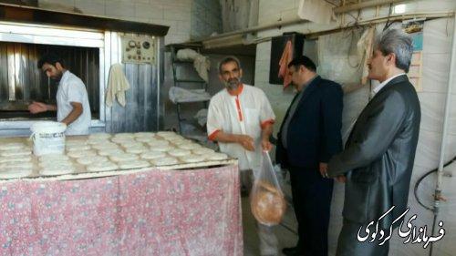 بازدید سرزده ابراهیم قدمنان فرماندارازچند واحد نانوایی سطح کردکوی