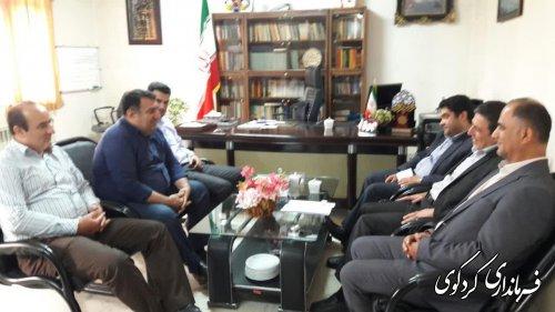 بازدیداعضای عالی هیات بازرسی استان  از فرمانداری کردکوی