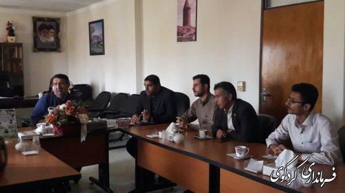 جلسه هماهنگی وحل مسائل و مشکلات روستای یساقی با فرماندارکردکوی
