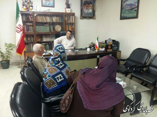 در ملاقات عمومی امروز سه شنبه ی مردم شریف شهرستان با ابراهیم قدمنان فرماندار کردکوی