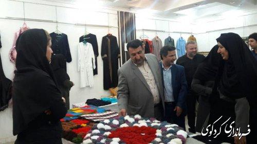 بازدید نمایشگاه۲ روزه  دستاوردهای مهارت آموختگان بخش خصوصی ودولتی با حضور فرماندارکردکوی