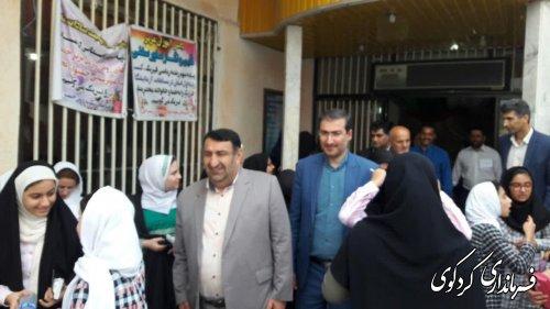 ابراهیم قدمنان از آزمون سراسری تیزهوشان شهرستان کردکوی بازدید کردند