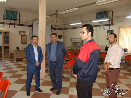 ابراهیم قدمنان فرماندار کردکوی از بخشهای گوناگون مرکز فنی و حرفه ای شهرستان   بازدیدکرد