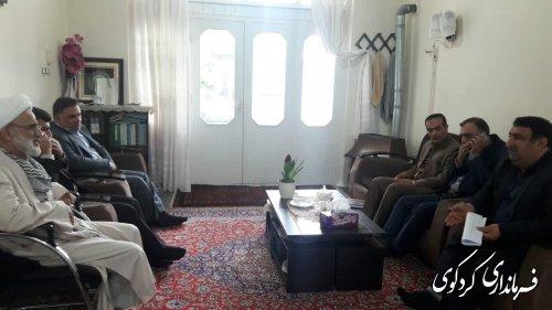 قدمنان فرماندارکردکوی با حجت الاسلام شاعری امام جمعه شهر کردکوی دیدار و گفتگو کرد