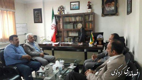 دیدار فرماندار کردکوی با ریاست سازمان تحقیقات جهادکشاورزی  استان