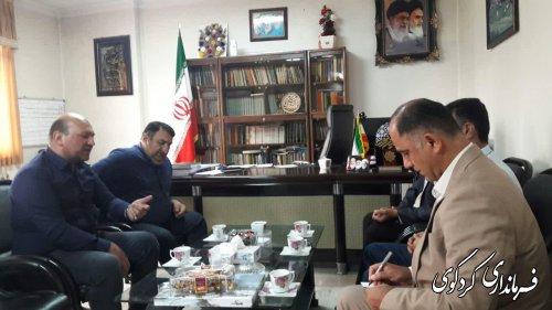 دیدار اعضای هیات مدیره نظام صنفی کشاورزی شهرستان باقدمنان فرماندارکردکوی