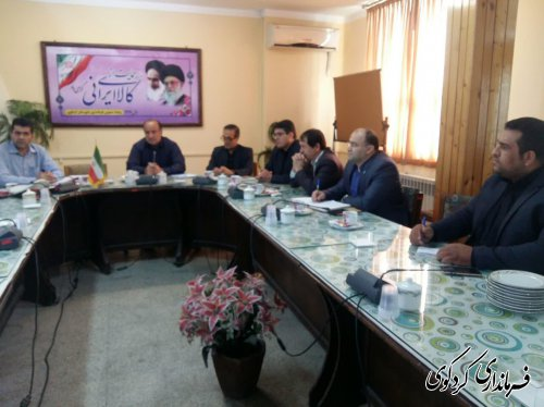 سومین جلسه شورای ترافیک شهرستان به ریاست مصدق معاون برنامه ریزی و هماهنگی امور عمرانی فرماندار کردکردکوی تشکیل شد