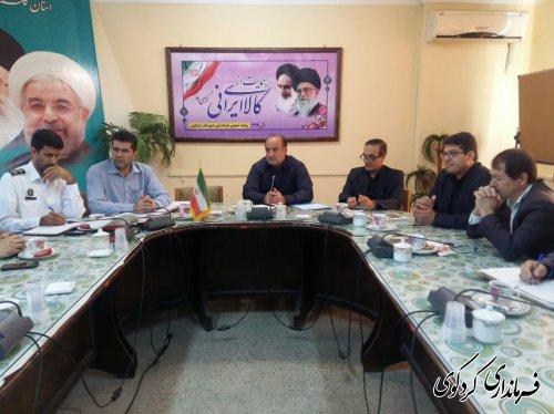 سومین جلسه شورای ترافیک شهرستان کردکوی تشکیل شد