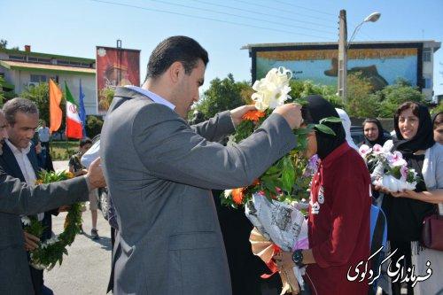 استقبال معاون فرماندار کردکوی از دو بانوی ورزشکار تیم ملی ایران