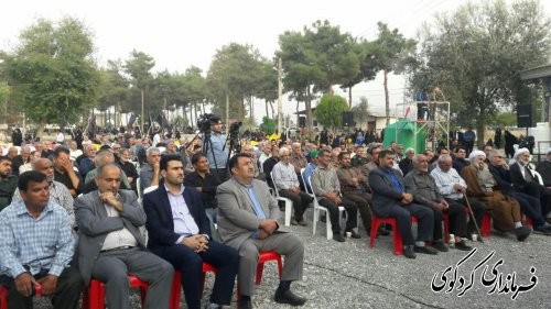 آئین گرامیداشت 141 شهید گلزار امامزاده روشن اباد برگزار شد