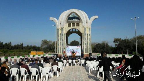 المان گلزار شهدای گمنام شهر کردکوی افتتاح شد