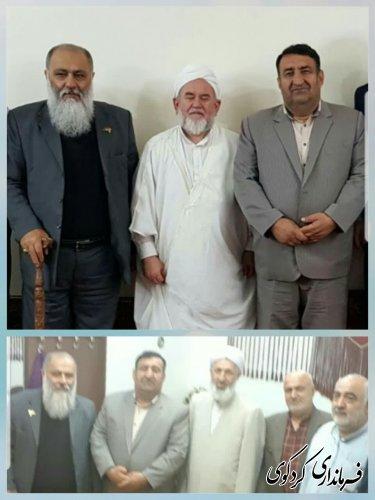 قدمنان فرماندار کردکوی با دو تن از علمای اهل سنت شهرستان اق قلا دیدار کرد
