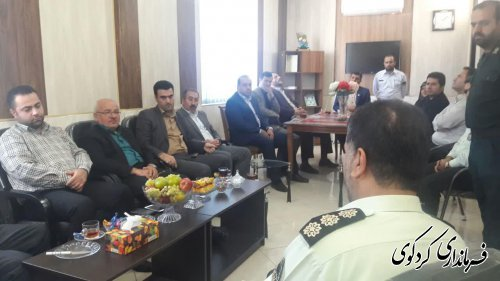 معاون سیاسی فرماندار و روسای دانشگاههای شهرستان با فرمانده انتظامی کردکوی دیدار کردند