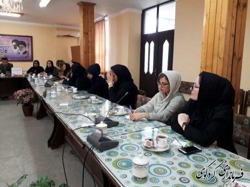 نخستین نشست شورای هم اندیشی بانوان فعال شهرستان تشکیل شد