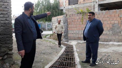 وضعیت آب شرب و جمع آوری آبهای سطحی  روستای چهارده بررسی شد