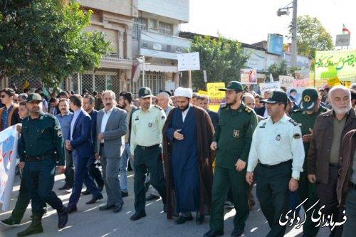 تقدیر فرماندار کردکوی از حضور پرشور اقشار مختلف مردم در راهپیمایی 13 آبان
