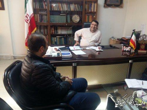 ملاقات عمومی تعدادی از شهروندان با ابراهیم قدمنان فرماندار کردکوی