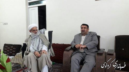 فرماندار کردکوی بمناسبت هفته بسیج و فرارسیدن ۱۷ ربیع الاول، با امام جمعه دیدار کرد