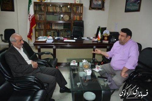 مدیرکل امور اداری و مالی استانداری گلستان با فرماندار کردکوی دیدار و گفتگو کرد