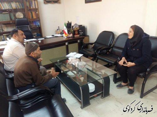 دیدار مردم شریف شهرستان با ابراهیم قدمنان فرماندار کردکوی .