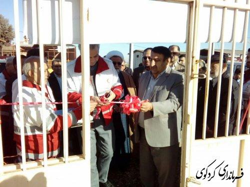 خانه هلال احمر روستای مهترکلاته شهرستان افتتاح شد.