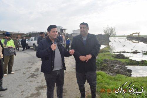 قدمنان رئیس مدیریت بحران کردکوی: بحران روستای حاجی آباد دشت مدیریت شد.