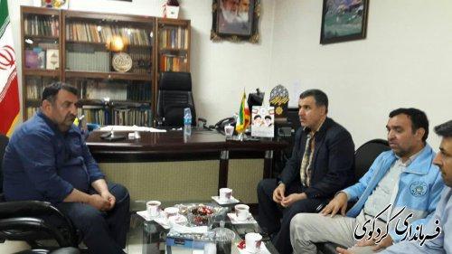 مدیرکل امنیتی و انتظامی و مدیرکل دفتر بازرسی استانداری گلستان با قدمنان فرماندار کردکوی دیدار و گفتگو کردند