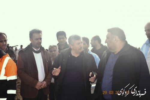 بازدید مهندس غراوی سرپرست استانداری گلستان از مناطق سیلزده کردکوی