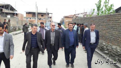بازدید  رئیس سازمان مدیریت و برنامه ریزی استان بهمراه فرماندار کردکوی از روستای حاجی آباد دشت