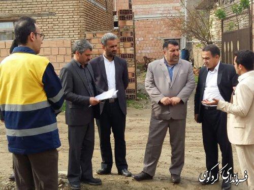 قدمنان فرماندارکردکوی از اجرای طرح هادی در روستای نامن بازدید کرد