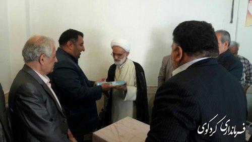 تجلیل از حجه الاسلام شاعری پدر معنوی فرهنگیان شهرستان