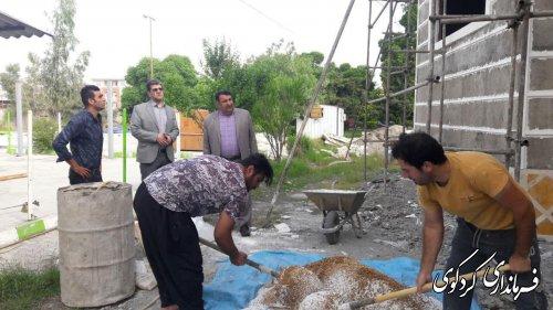 ابراهیم قدمنان فرماندار کردکوی از ساختمان در حال ساخت کانون پرورش فکری کودکان و نوجوانان شهرستان بازدید کرد