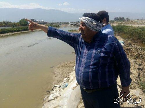 فرماندارکردکوی ازاخرین وضعیت خروج آب از اراضی کشاورزی دهقانان منطقه بصورت میدانی بازدید کردند.