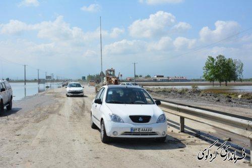 بازگشایی جاده یساقی به بندر ترکن بعد 40روز سیل مناطق کردکوی