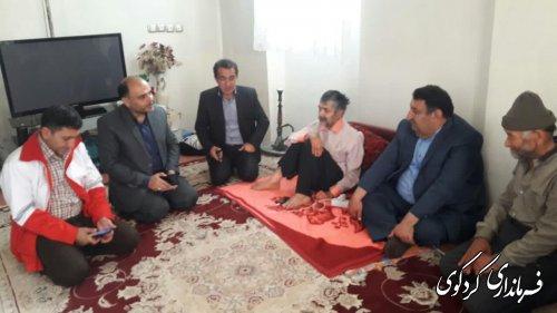 بازدید از مددجویان تحت پوشش کمیته امداد حضرت امام (ره) و بهزیستی شهرستان