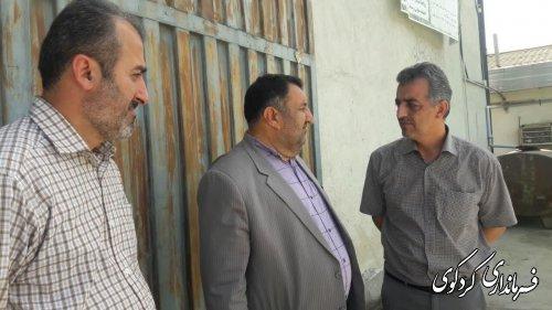 باز دید فرمانداراز چند مرکز خرید و انبارهای تحویل کلزای شهرستان کردکوی